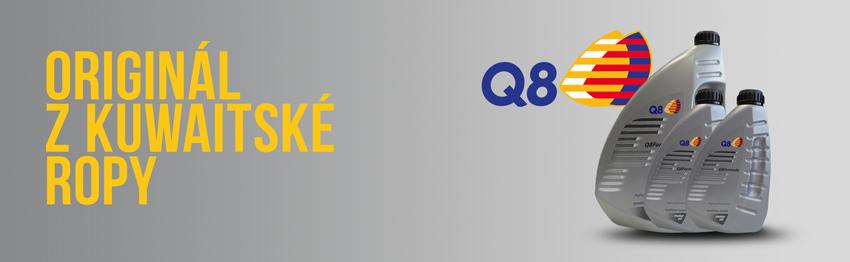Weboil doporučuje motorové oleje od Q8 Oils