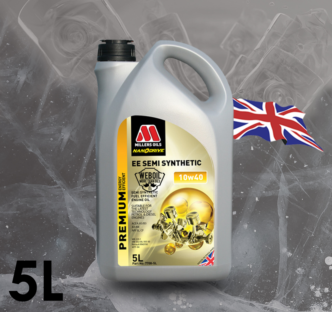 Motorový olej Millers oils EE Semi Synthetic 10w-40 5l