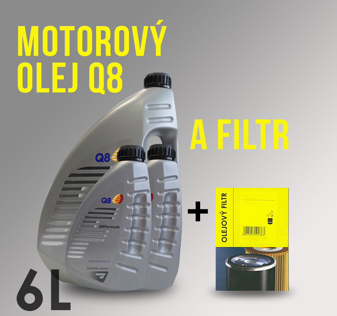 Motorový olej Q8 5W-30 a filtr pro Ford Tourneo Connect 1.8 TDCI 81 kW
