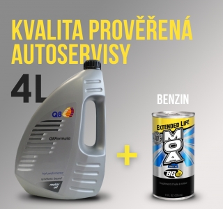 Q8 Formula Advanced 10W-40 4L a BG aditivum do oleje. Benzínové motory
