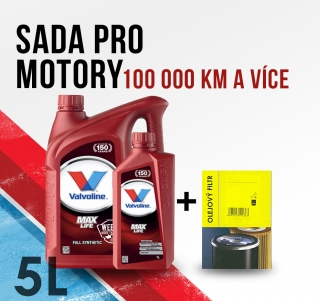 Motorový olej Valvoline 5W-40 a filtr pro Renault Grand Scenic II 1.9 DCI 88kw