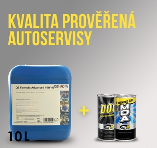 Sada motorový olej Q8 Advanced 10W-40 10l a BG aditivum do oleje mix