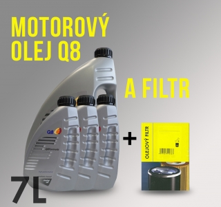 Motorový olej Q8 5W-30 a filtr Ford Tourneo Connect 1.8 DI 55 kW
