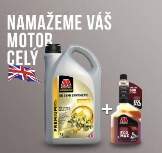 Motorový olej Millers EE Semi Synthetic  10w-40 5l + aditivum do benzinu