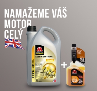 Motorový olej Millers EE Semi Synthetic 10w-40 5l + aditivum do nafty